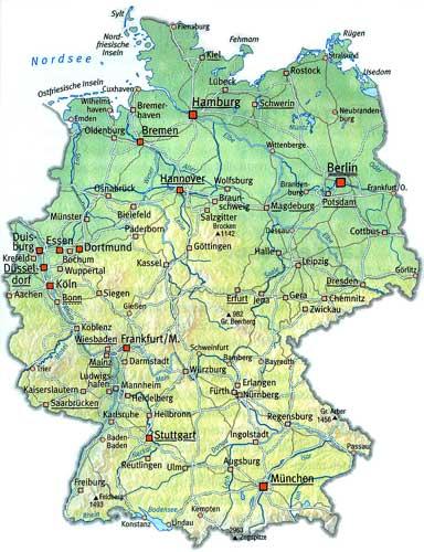 Карта Баден-Бадена.